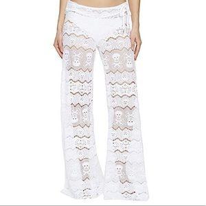White Lace Skull Swim pants Large